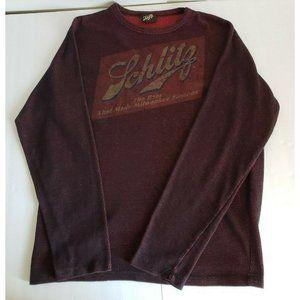 Schlitz Beer Long Sleeve Knit Shirt Mens Medium